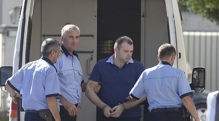Horia Simu in momentul arestarii