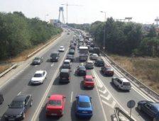Carambol pe podul de la Agigea! Șase mașini s-au tamponat, iar o persoană a fost rănită