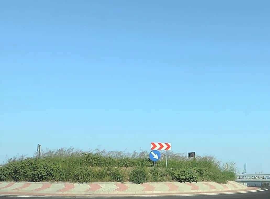 intrare in port din autostrada