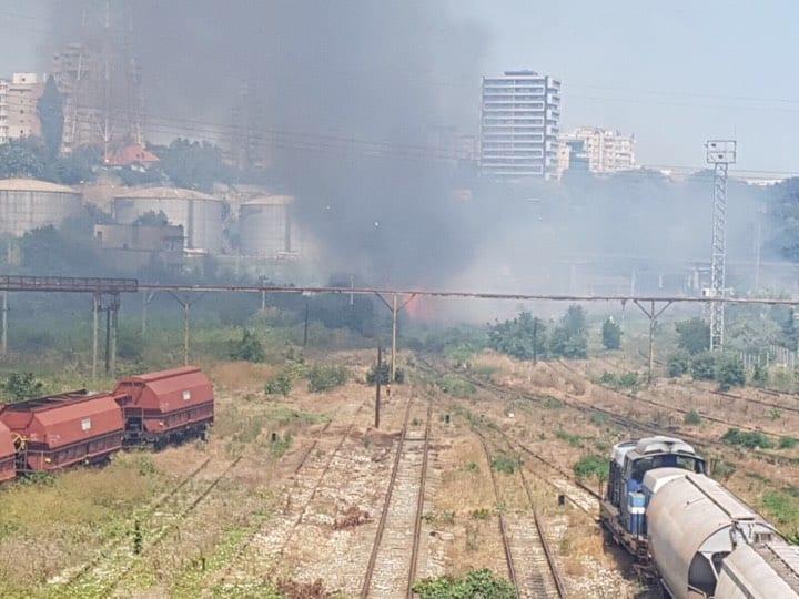 incendiu vegetatie in port