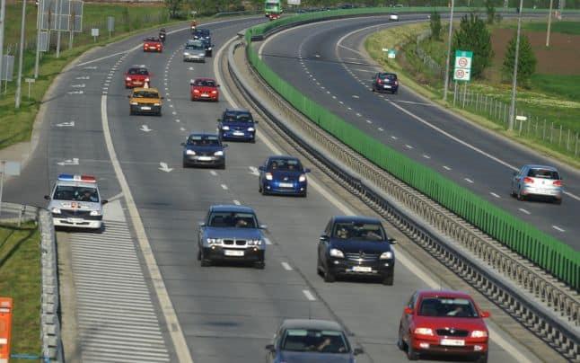 autostrada soarelui masina politie