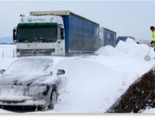 Circulație îngreunată în Croația! Ninge abundent