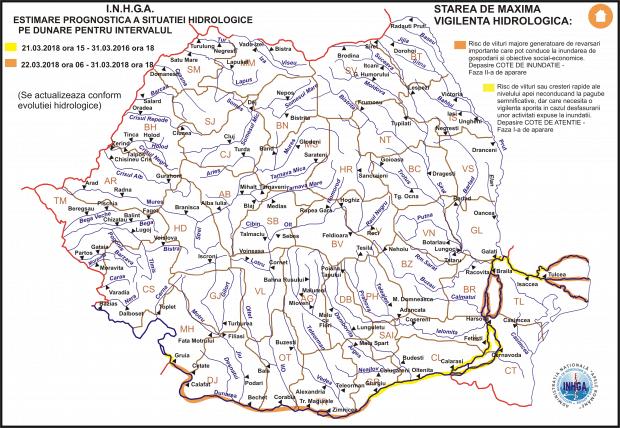 harta hidrologi Dunare