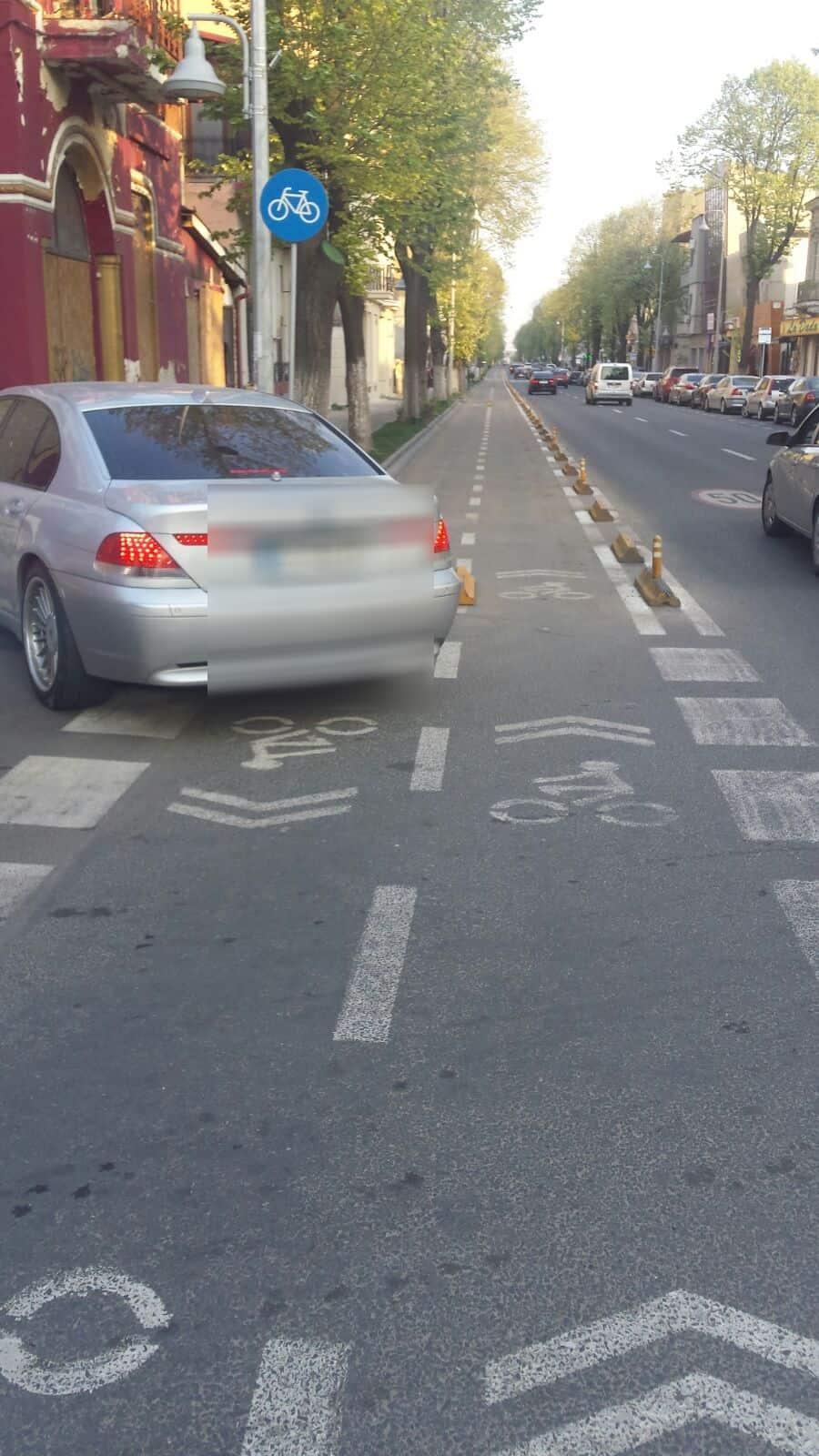 amenda parcare pe pista de biciclete