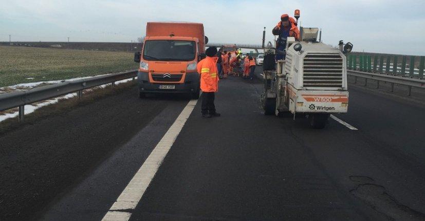autostrada lucrari gropi