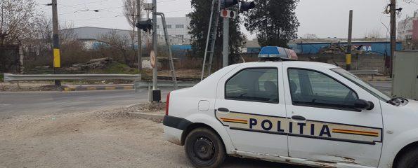 politia langa calkea ferata