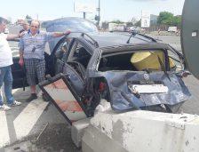 (Foto): Iată cum s-a produs accidentul de la intrarea pe Autostrada A2