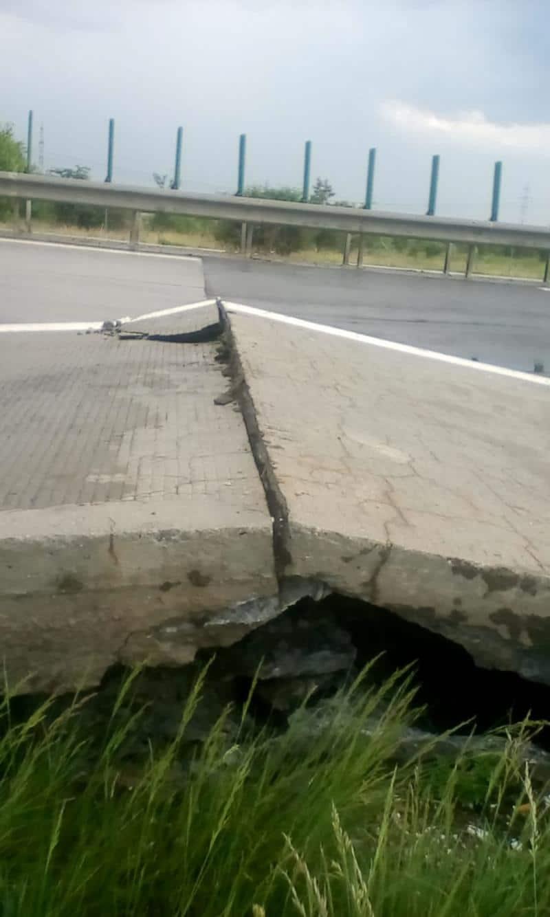autostrada a2 placa beton ridicata