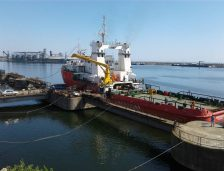Nava Hercules este în probe pe mare! Nu mai naviga din anul 2012