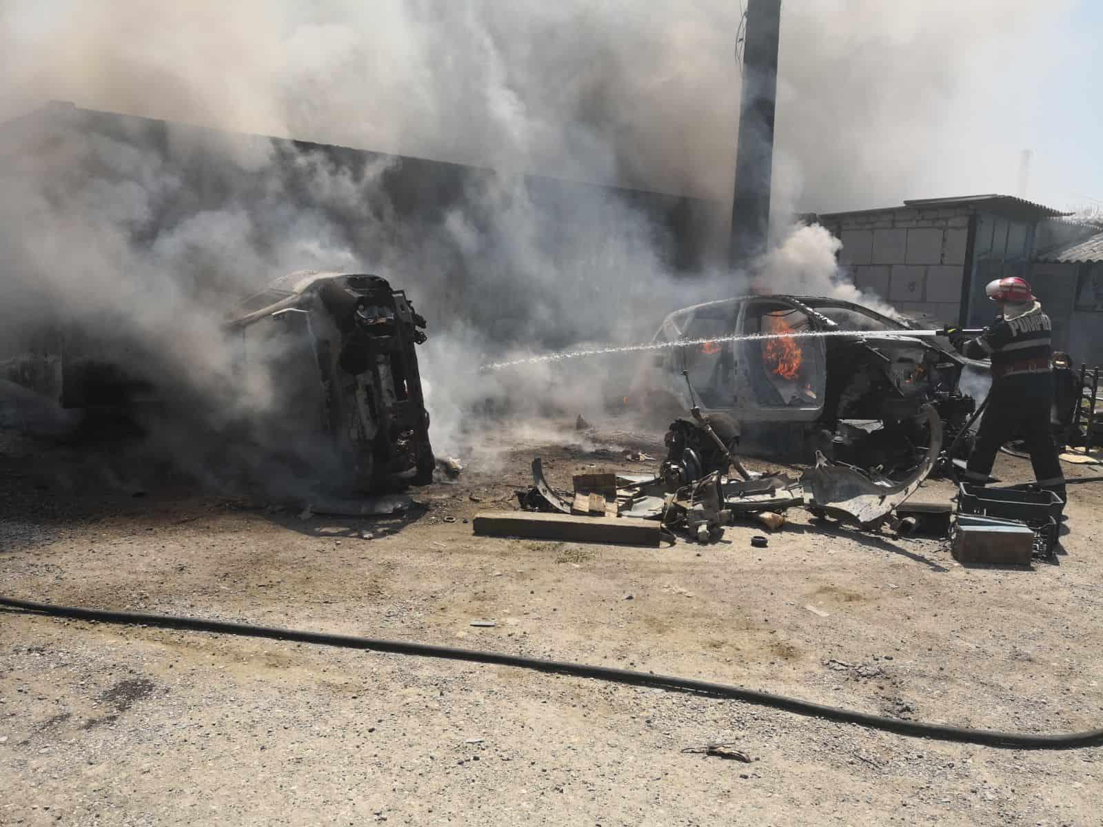 incendiu dezmembrari auto