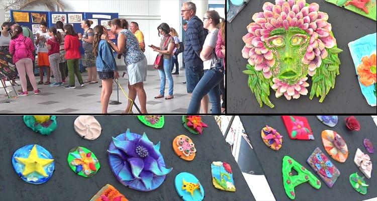 Flori ceramice la Delfinariu