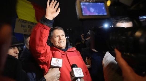 Iohannis la protest