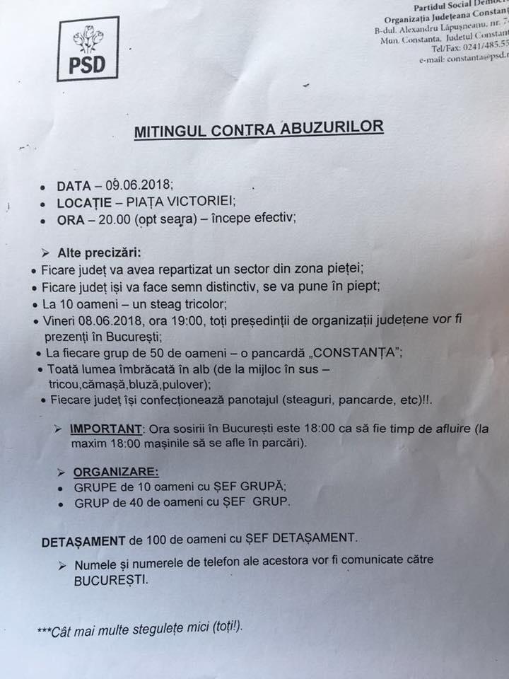 PSD Constanta – miting 9 iunie
