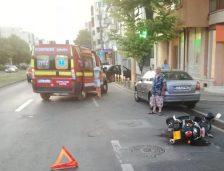 Constanța: Accident rutier între un autoturism Skoda și un motociclu