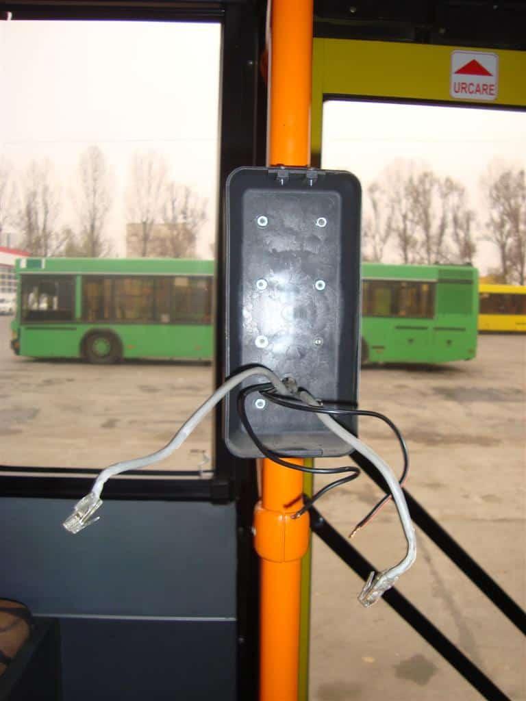 autobuz vandalizat