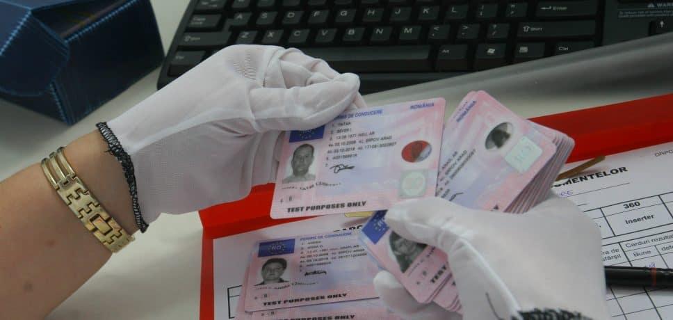 permis conducere fals