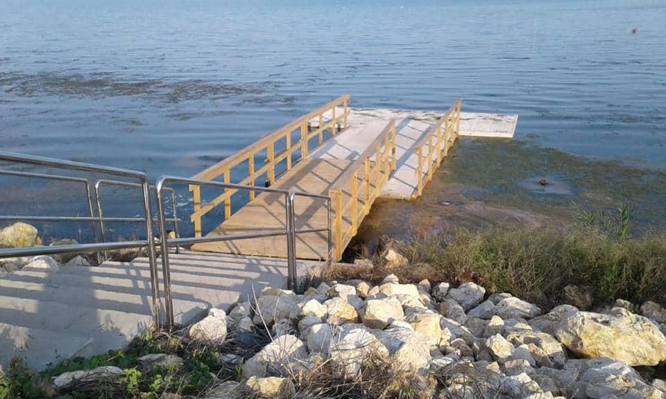 ponton de acces lac Techirghiol
