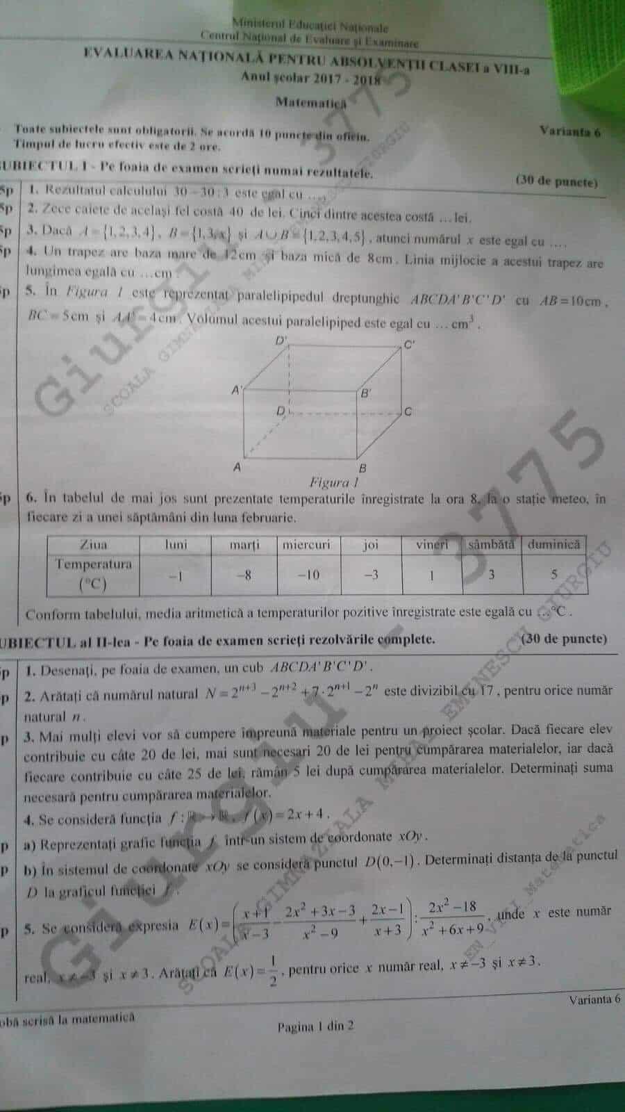 subiecte-matematica-evaluarea-nationala-2018-2
