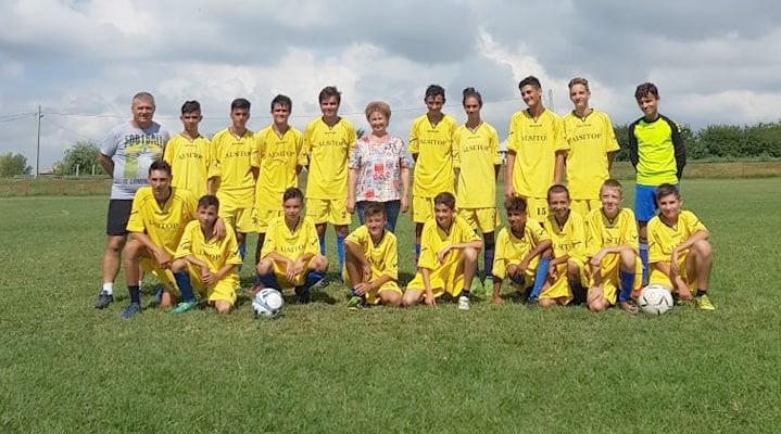Echipa fotbal cu viceprimarul Castelu
