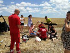 Accident rutier la Palazu Mic! Intervine elicopterul
