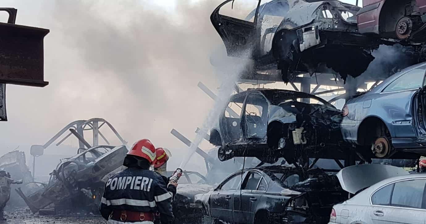 incendiu masini agigea