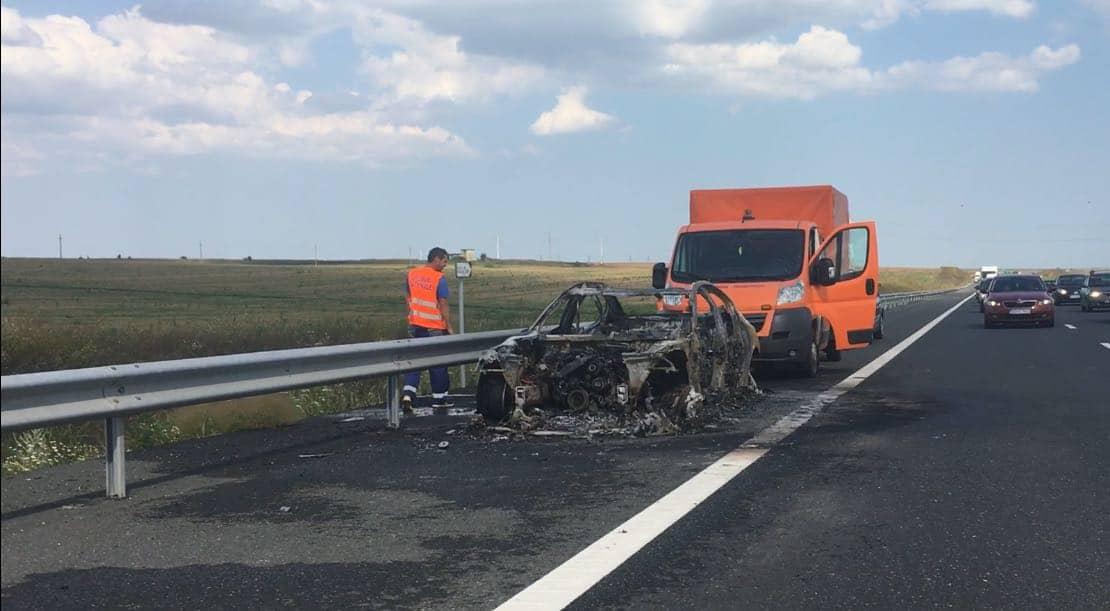 incendiu pe autostrada2