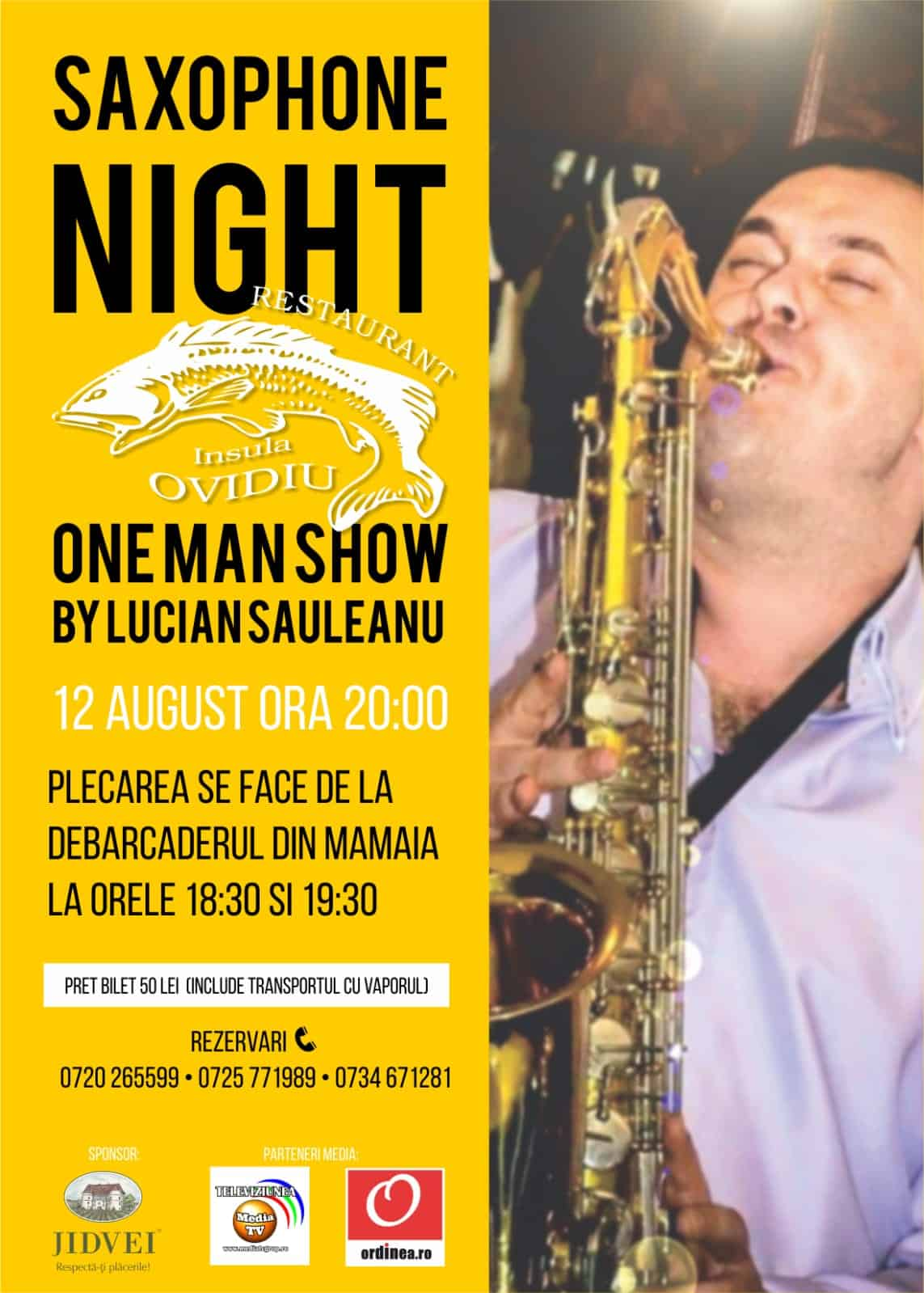 Saxophone Night pe Insula Ovidiu