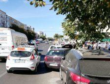 Accident pe b-dul Lăpușeanu! Un șofer neatent a contribuit la distrugerea a patru mașini