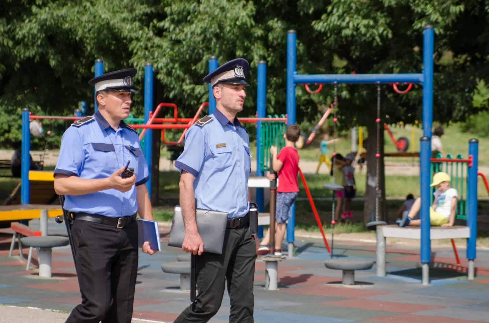 politia locala in parc