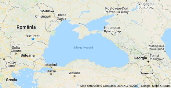 harta marii negre cu vecini)
