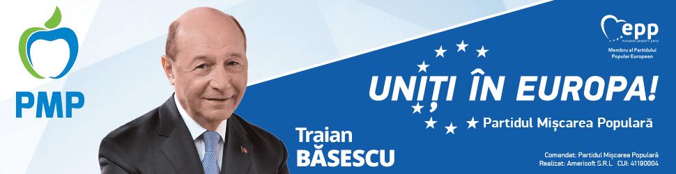 PMP banner Traian Basescu