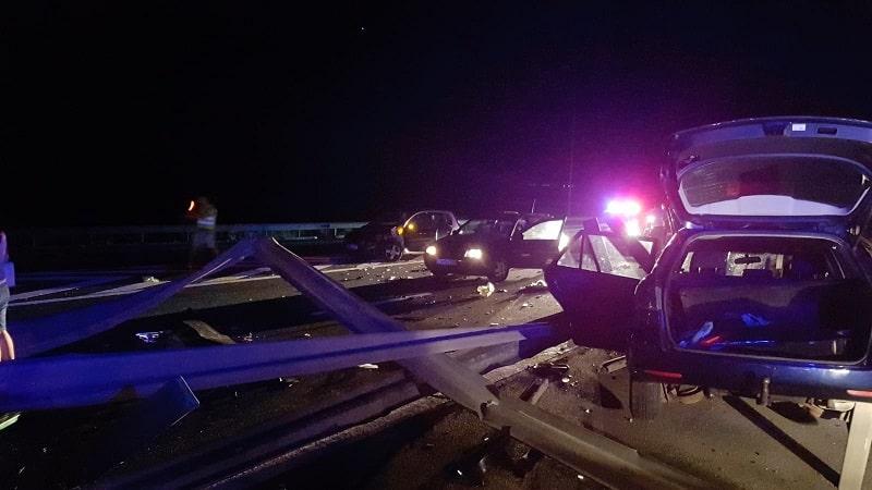 accident pe autostrada noaptea