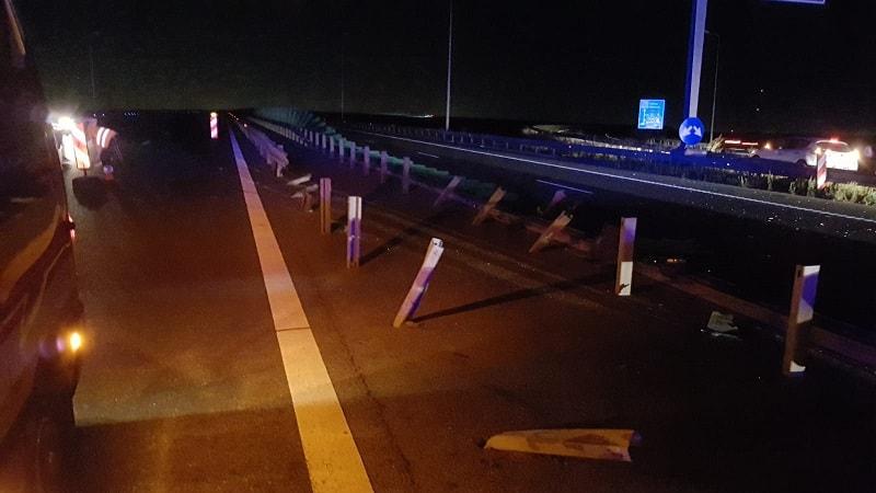 accident pe autostrada noaptea3